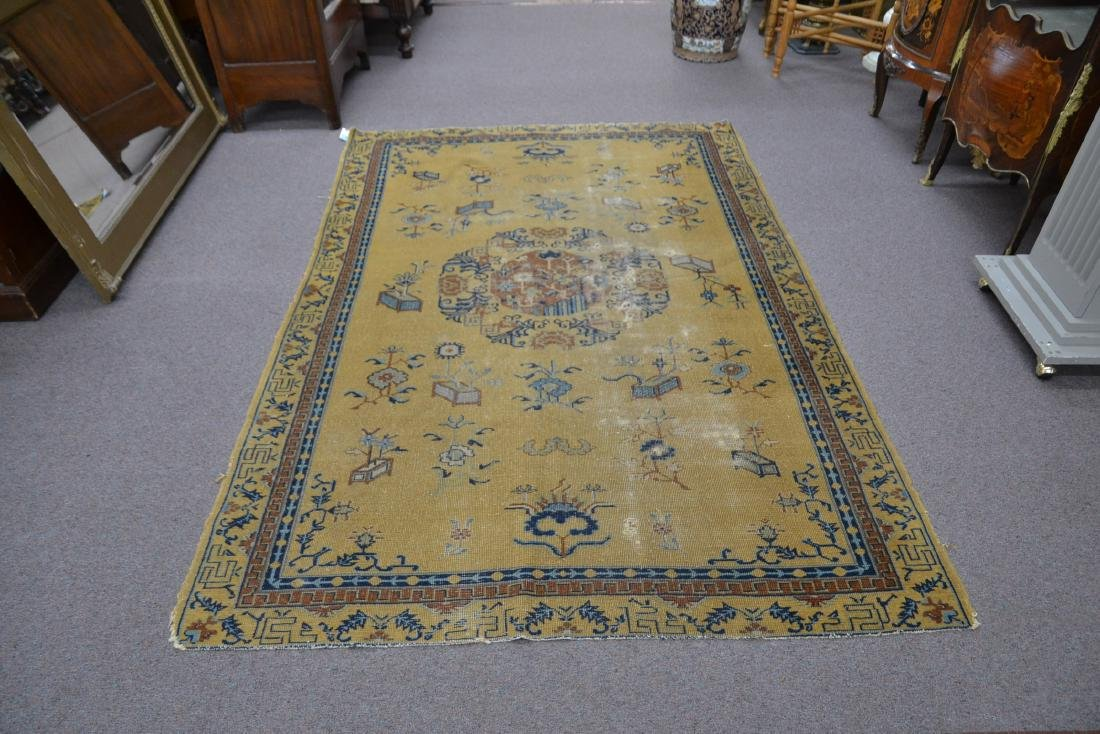 """5' 4"""" x 7' 10"""" INDO CHINESE RUG (SOME WEAR) - 10"""