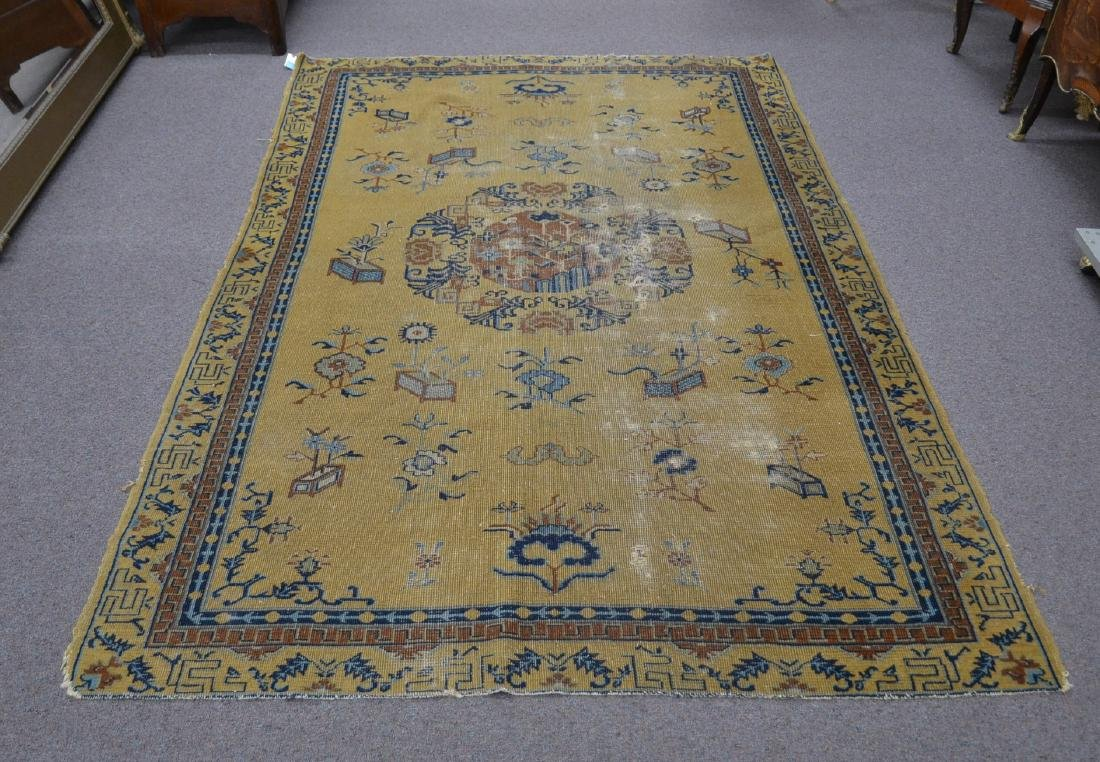 """5' 4"""" x 7' 10"""" INDO CHINESE RUG (SOME WEAR)"""