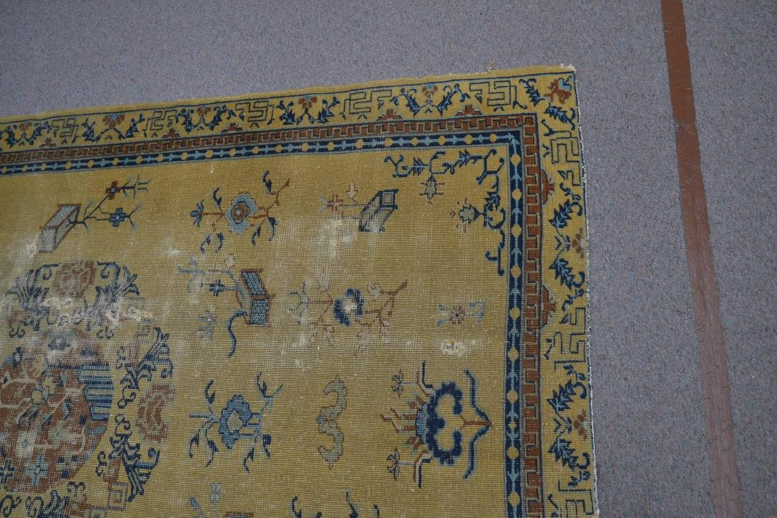 """5' 4"""" x 7' 10"""" INDO CHINESE RUG (SOME WEAR) - 4"""