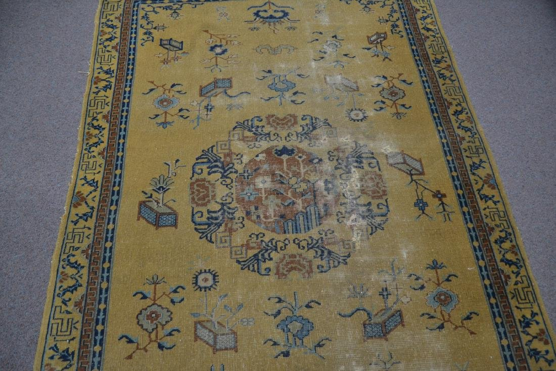 """5' 4"""" x 7' 10"""" INDO CHINESE RUG (SOME WEAR) - 5"""