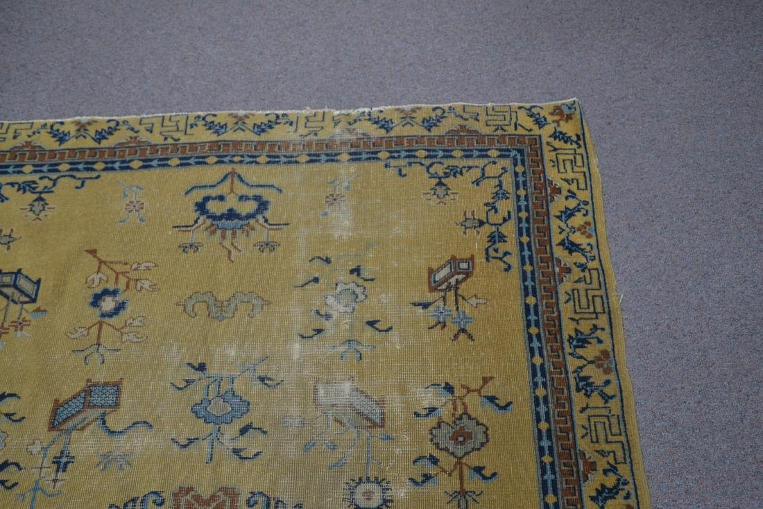 """5' 4"""" x 7' 10"""" INDO CHINESE RUG (SOME WEAR) - 7"""