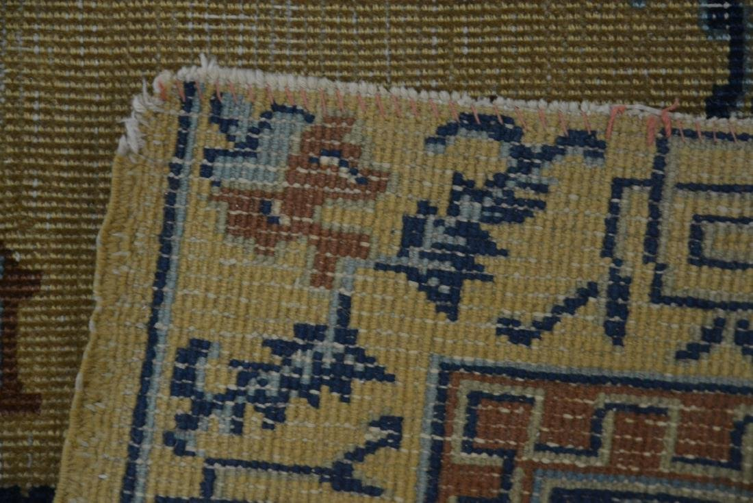 """5' 4"""" x 7' 10"""" INDO CHINESE RUG (SOME WEAR) - 8"""