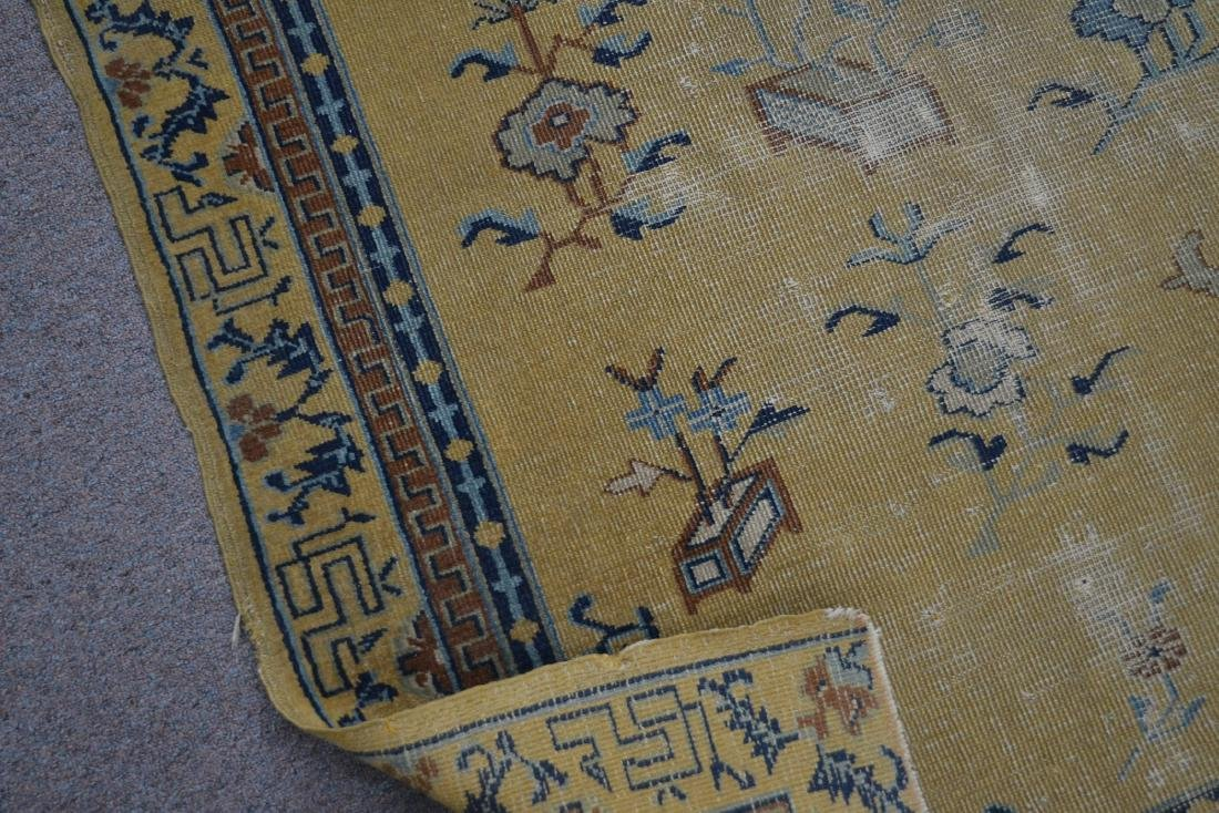 """5' 4"""" x 7' 10"""" INDO CHINESE RUG (SOME WEAR) - 9"""