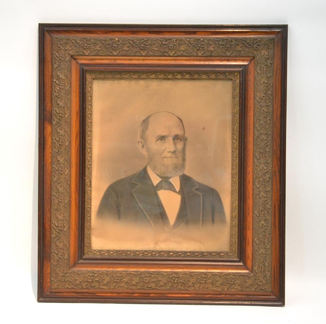 LARGE PORTRAIT OF BEARDED MAN IN PERIOD FRAME