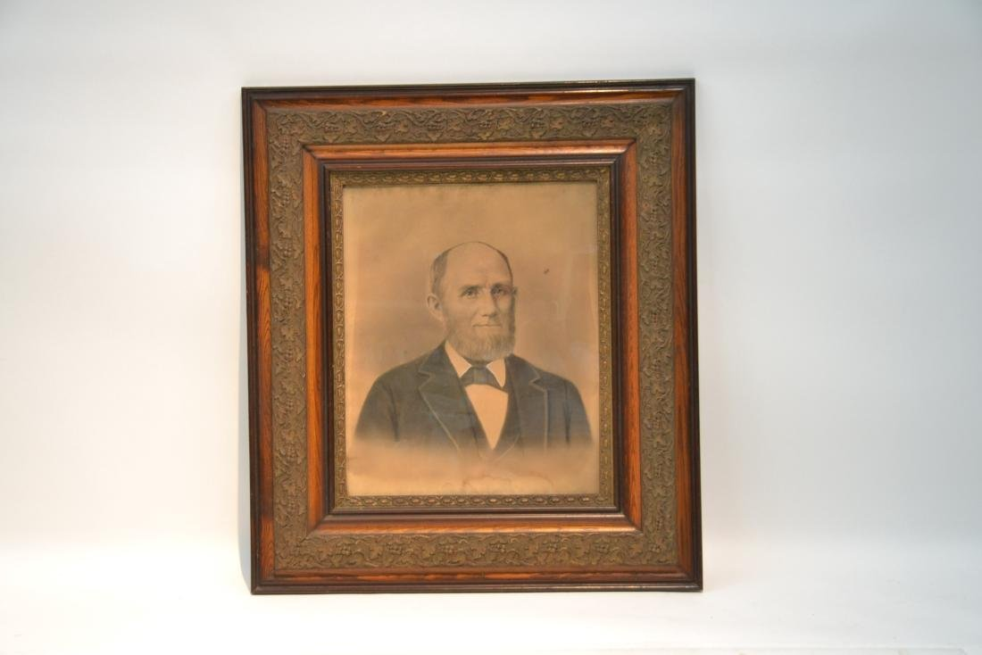 LARGE PORTRAIT OF BEARDED MAN IN PERIOD FRAME - 2