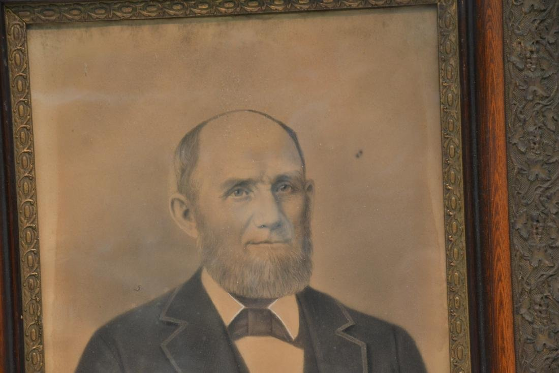 LARGE PORTRAIT OF BEARDED MAN IN PERIOD FRAME - 4