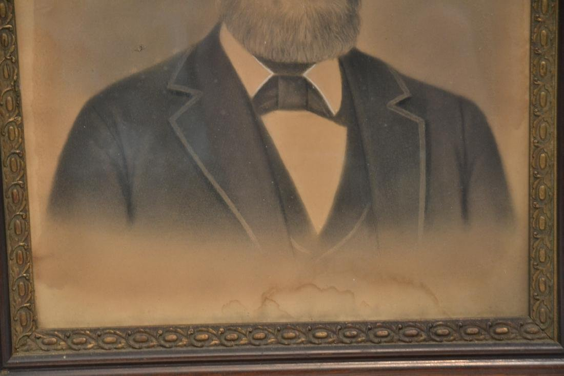 LARGE PORTRAIT OF BEARDED MAN IN PERIOD FRAME - 5