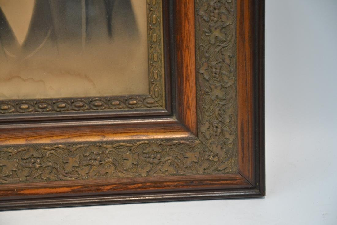 LARGE PORTRAIT OF BEARDED MAN IN PERIOD FRAME - 6