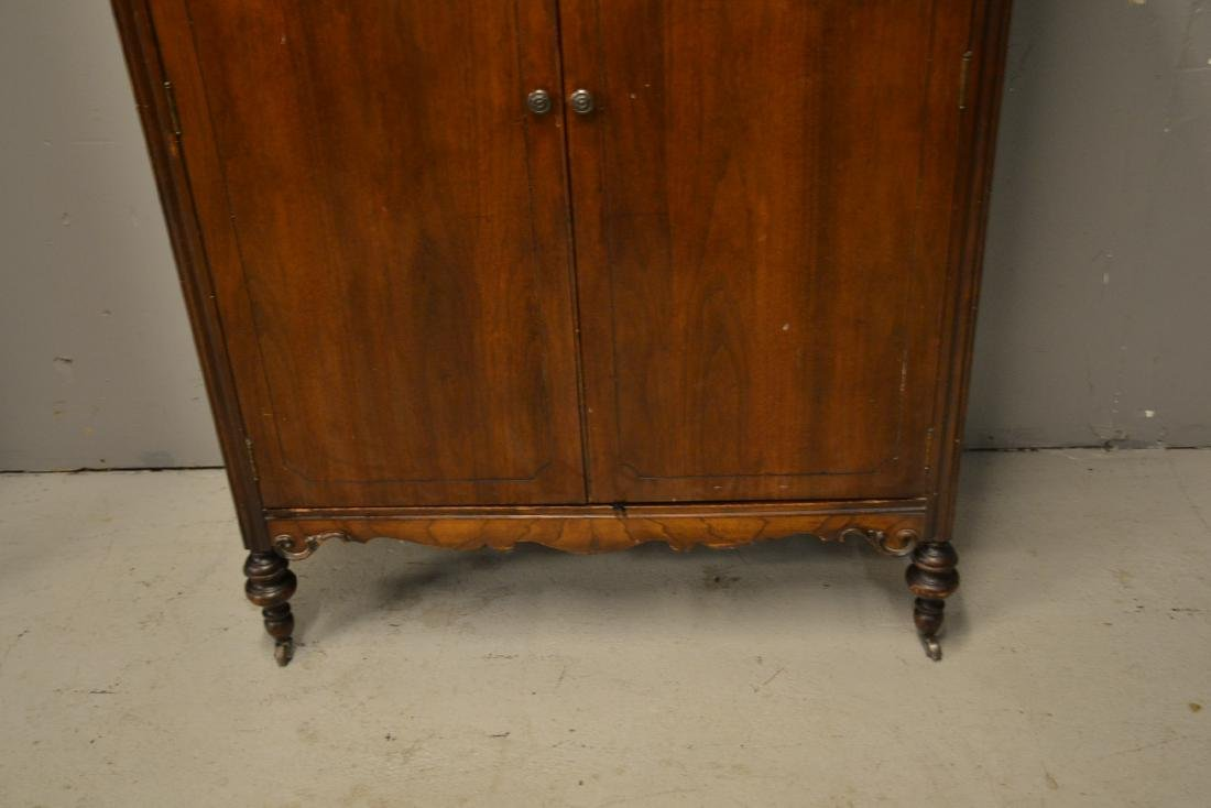 MAHOGANY 2-DOOR WARDROBE - 4