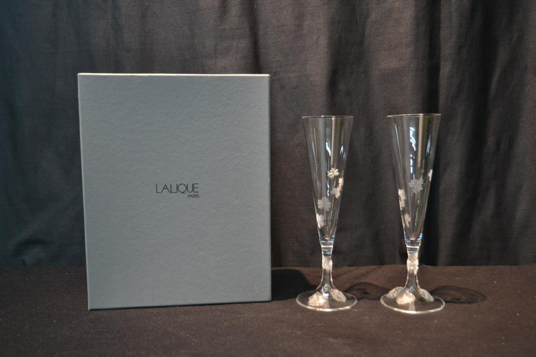 (Pr) LALIQUE CRYSTAL TOASTING GLASSES - 10