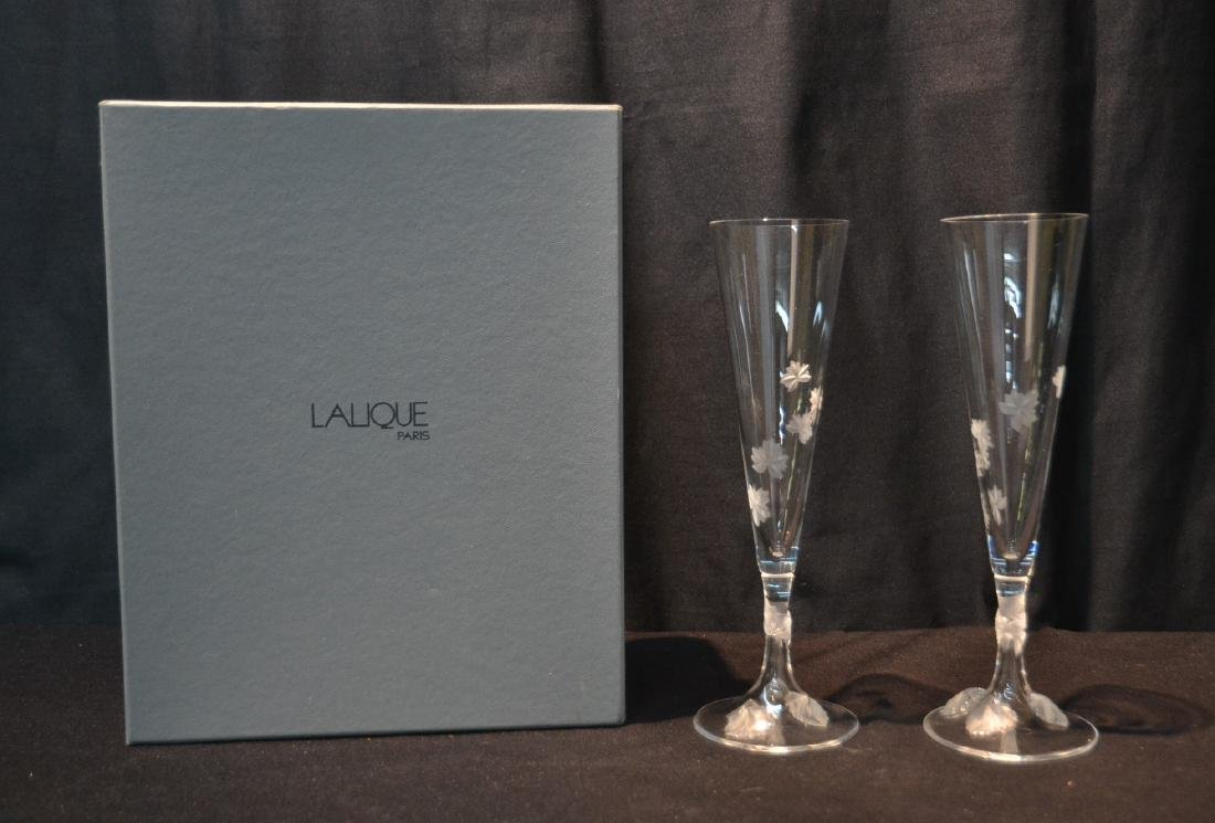 (Pr) LALIQUE CRYSTAL TOASTING GLASSES