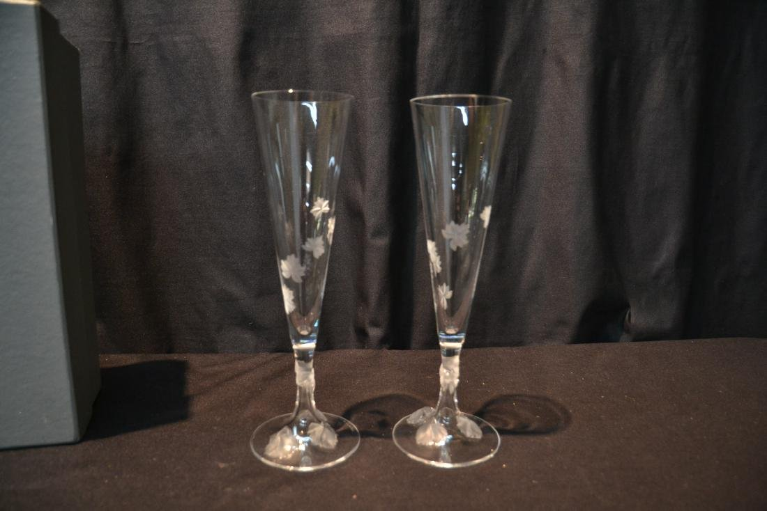 (Pr) LALIQUE CRYSTAL TOASTING GLASSES - 2
