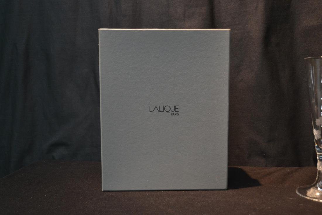 (Pr) LALIQUE CRYSTAL TOASTING GLASSES - 5