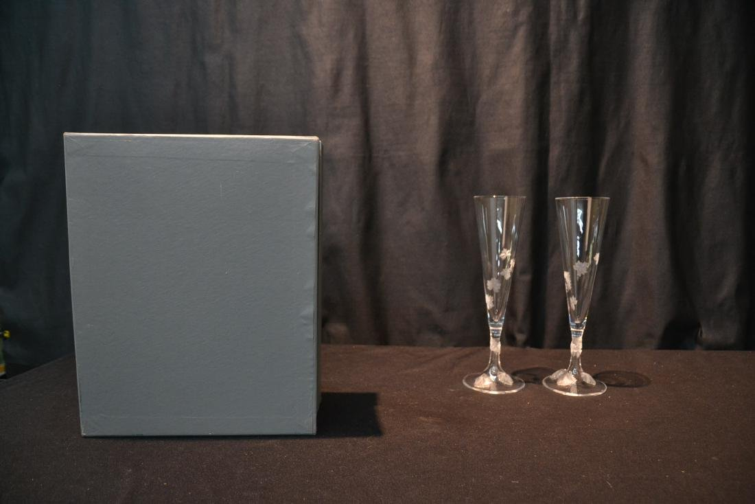 (Pr) LALIQUE CRYSTAL TOASTING GLASSES - 6