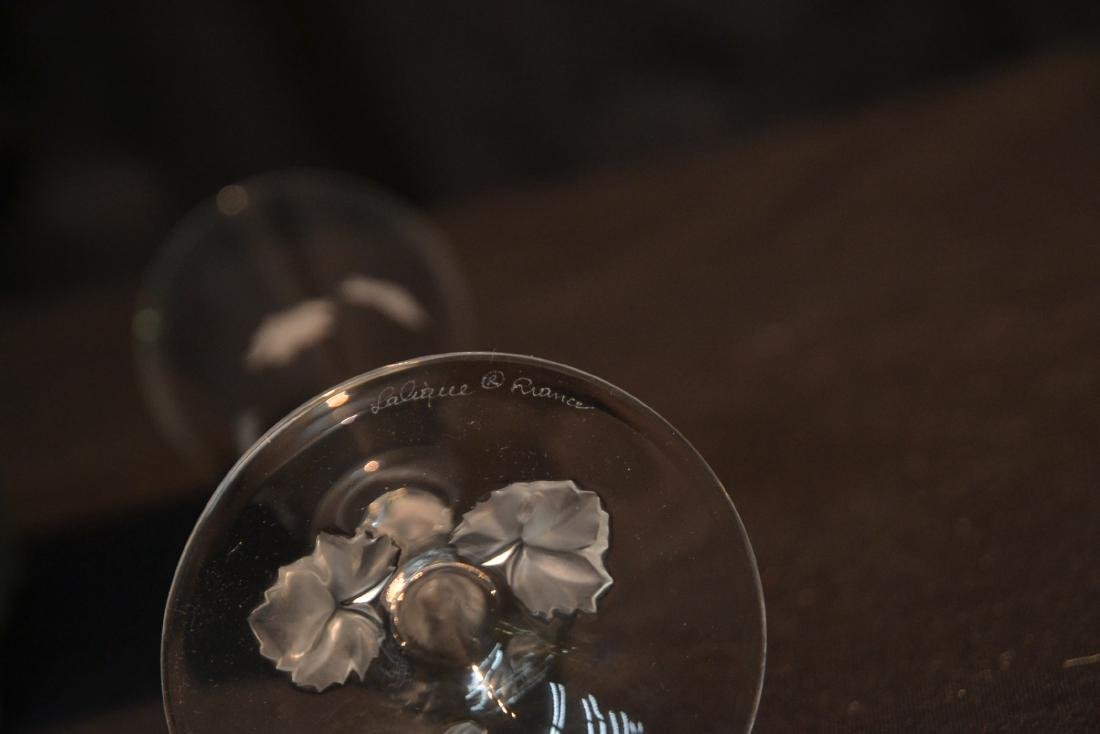 (Pr) LALIQUE CRYSTAL TOASTING GLASSES - 7