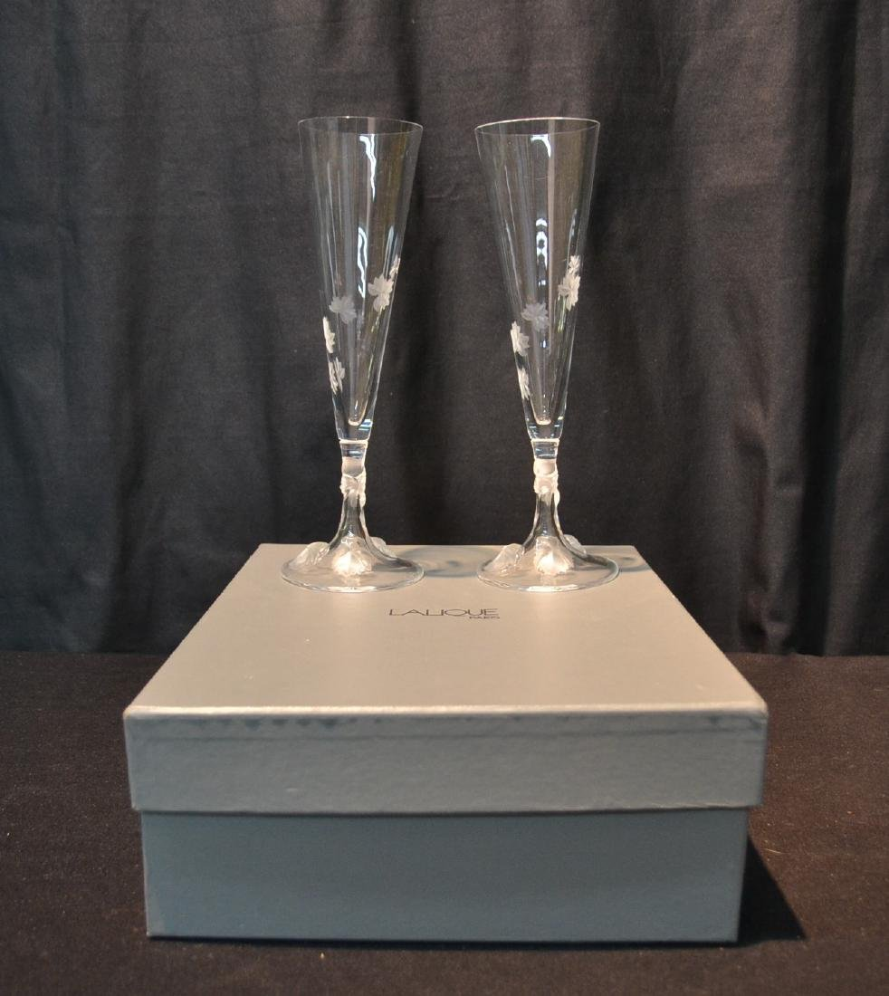 (Pr) LALIQUE CRYSTAL TOASTING GLASSES - 8