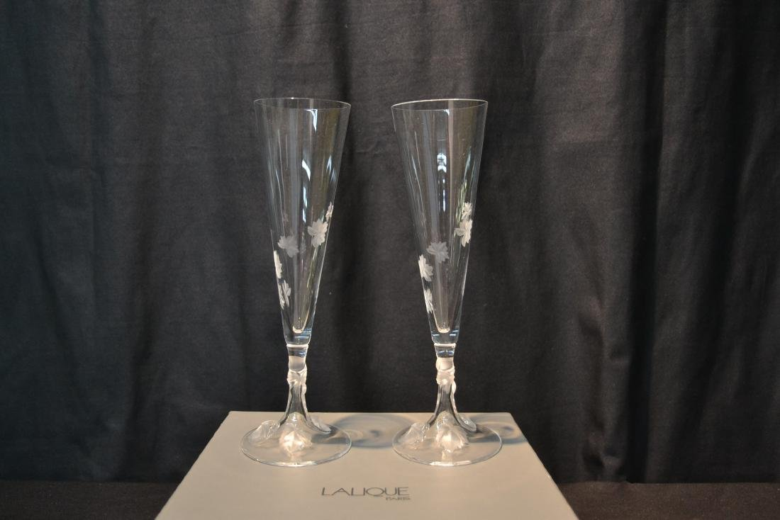 (Pr) LALIQUE CRYSTAL TOASTING GLASSES - 9
