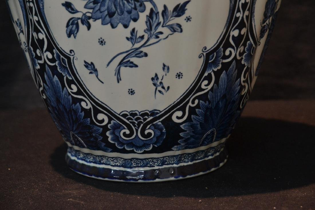 LARGE BOCH FRERES DELFT COVERED URN WITH - 3