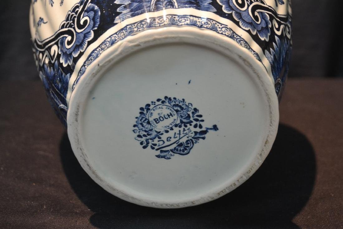 LARGE BOCH FRERES DELFT COVERED URN WITH - 6