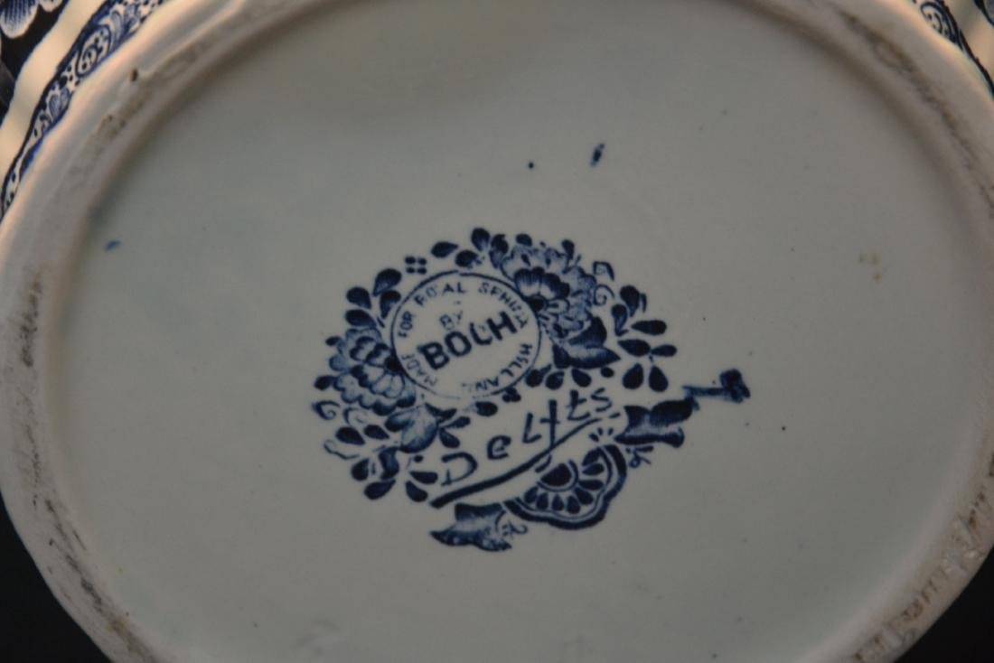 LARGE BOCH FRERES DELFT COVERED URN WITH - 7