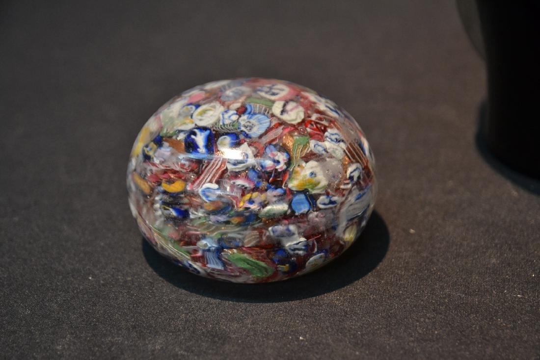 (2) MURANO ART GLASS PAPERWEIGHTS & MURANO VASE - 2