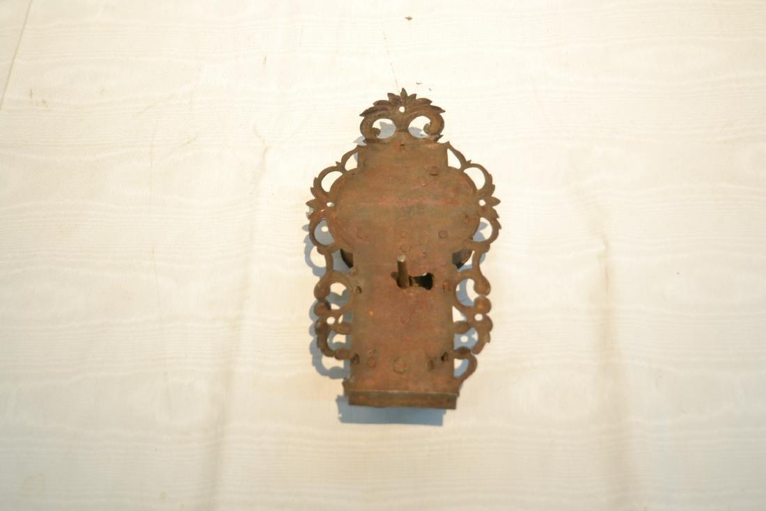 18thC ENGRAVED DOOR LOCK - 2