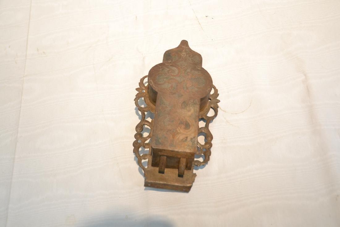 18thC ENGRAVED DOOR LOCK - 5
