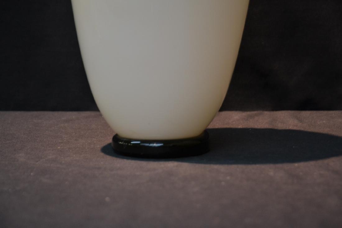LARGE NOUROT ART GLASS VASE - 3