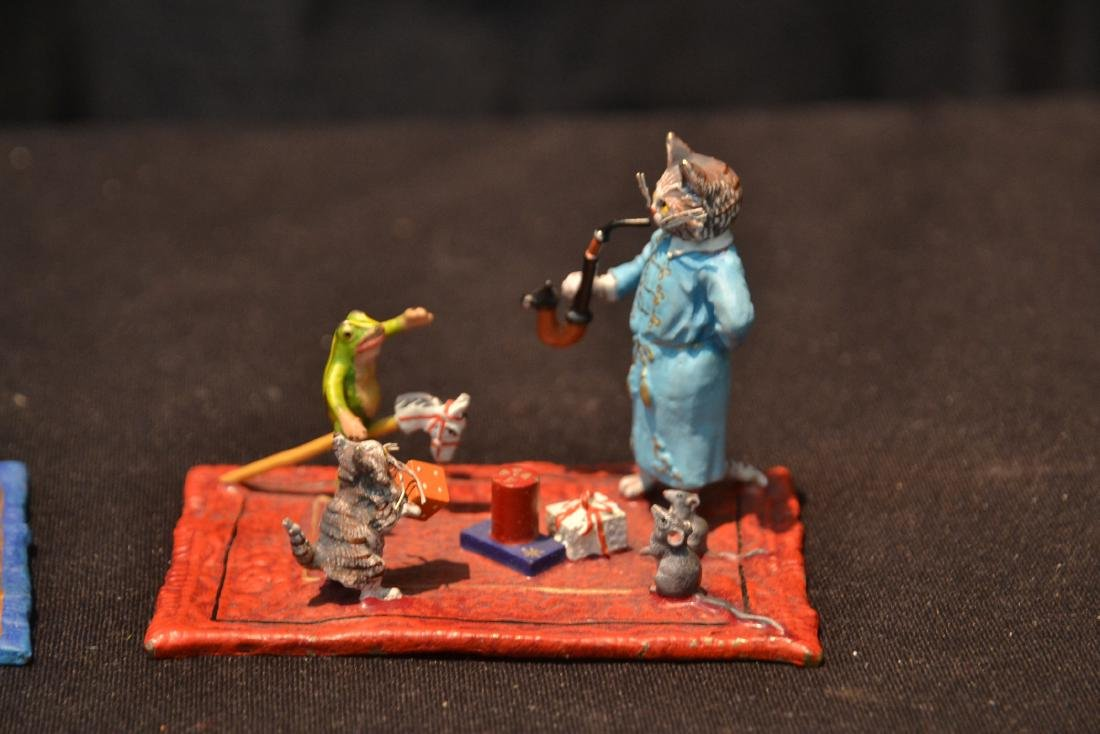COLD PAINTED BRONZE MINIATURES INCLUDING - 2