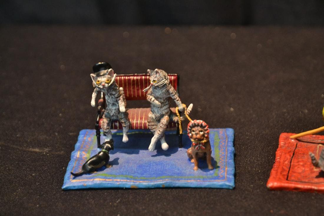 COLD PAINTED BRONZE MINIATURES INCLUDING - 3