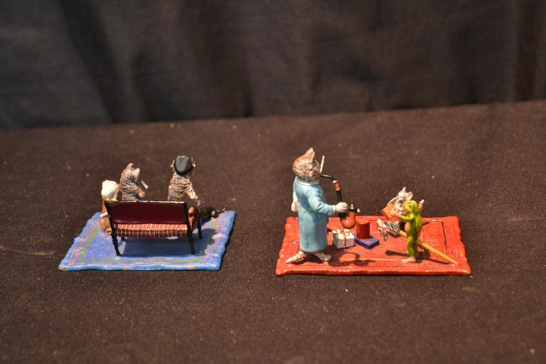 COLD PAINTED BRONZE MINIATURES INCLUDING - 4