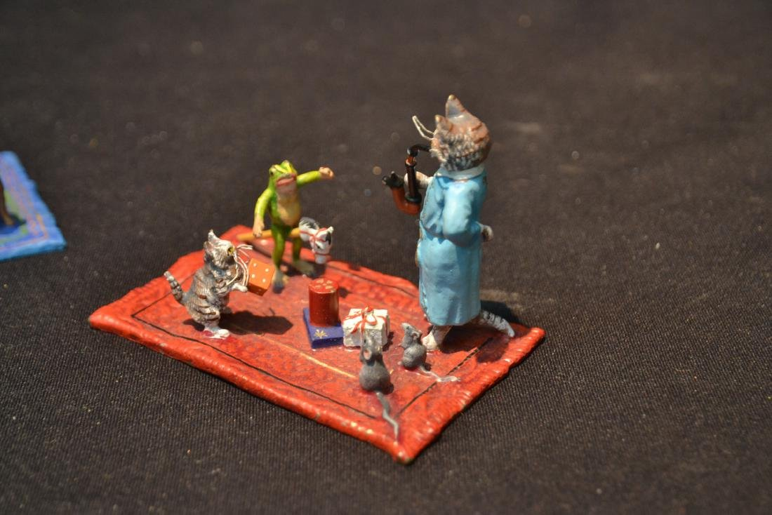 COLD PAINTED BRONZE MINIATURES INCLUDING - 8
