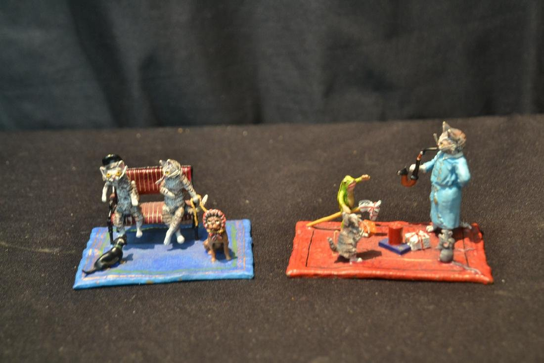 COLD PAINTED BRONZE MINIATURES INCLUDING - 9