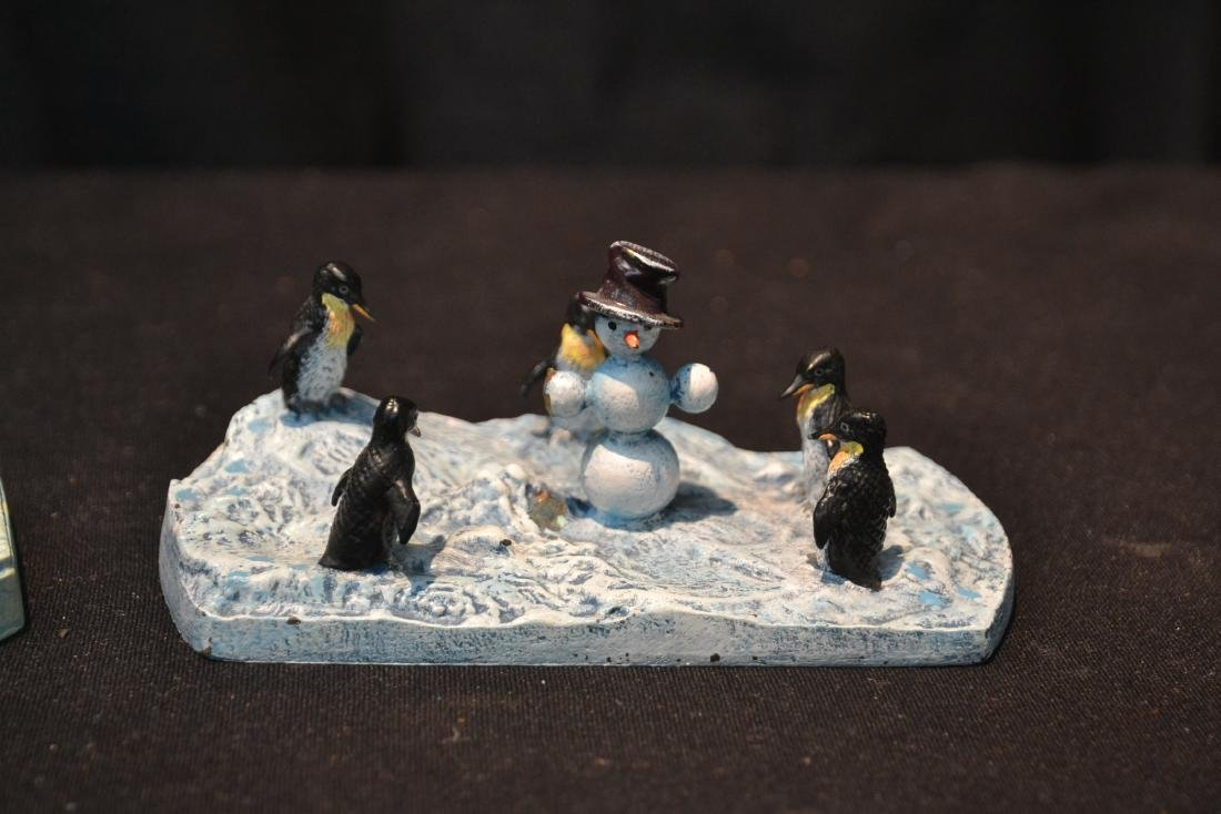(2) COLD PAINTED BRONZE MINIATURE ANIMAL GROUPINGS - 2