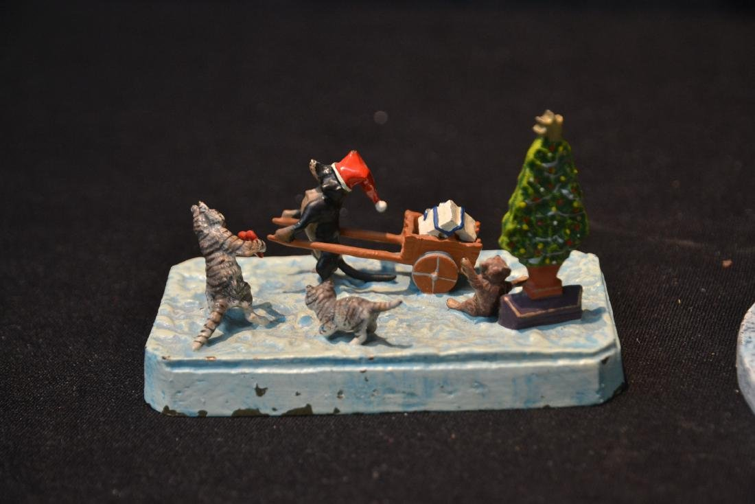 (2) COLD PAINTED BRONZE MINIATURE ANIMAL GROUPINGS - 6