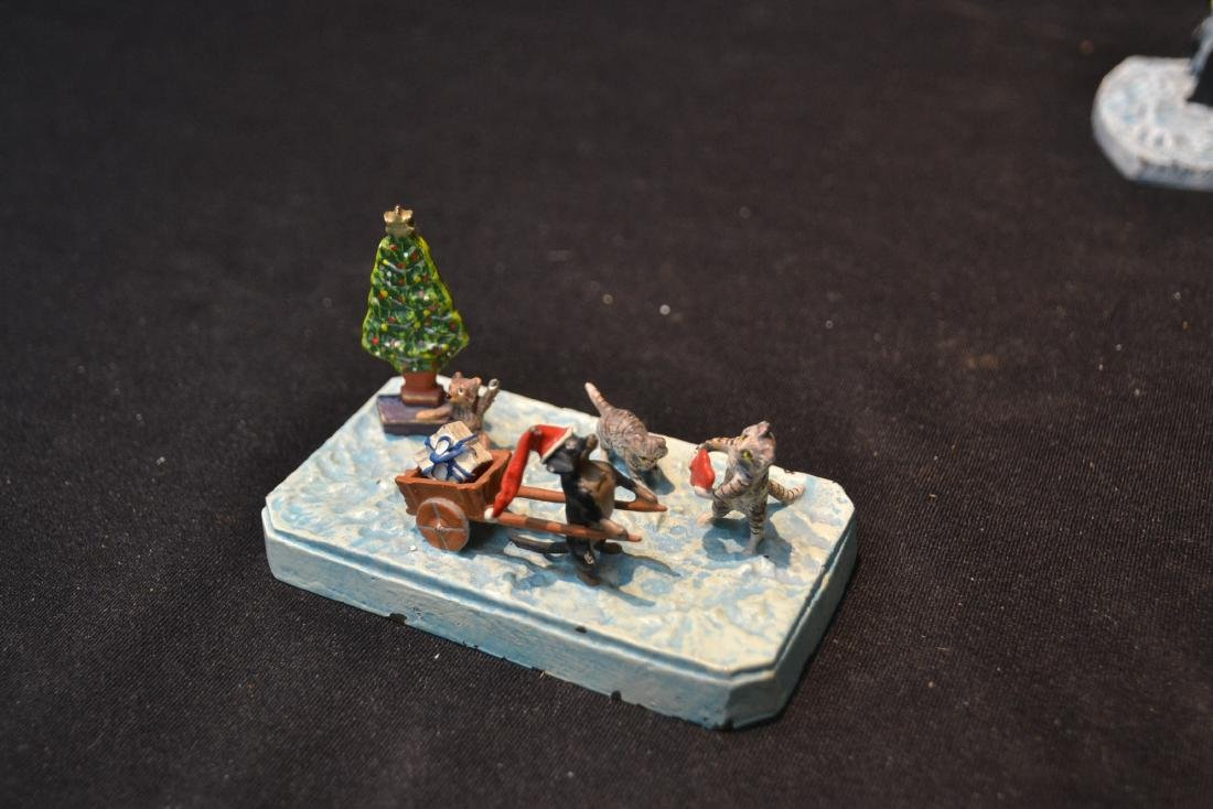 (2) COLD PAINTED BRONZE MINIATURE ANIMAL GROUPINGS - 7