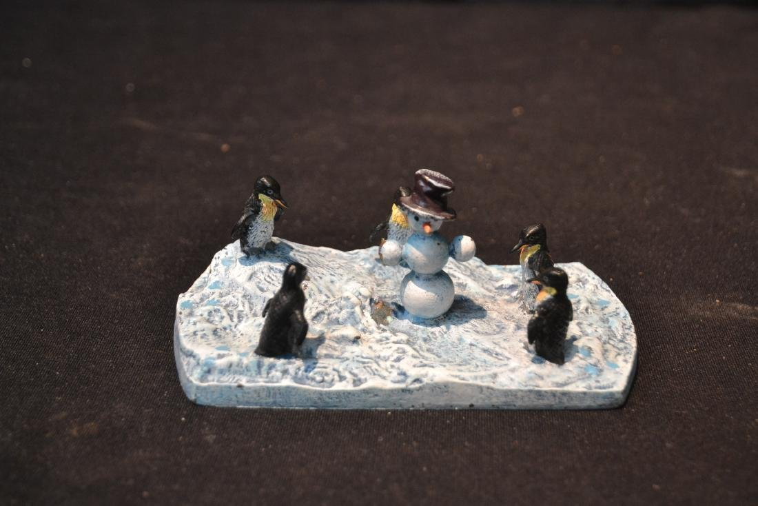 (2) COLD PAINTED BRONZE MINIATURE ANIMAL GROUPINGS - 8