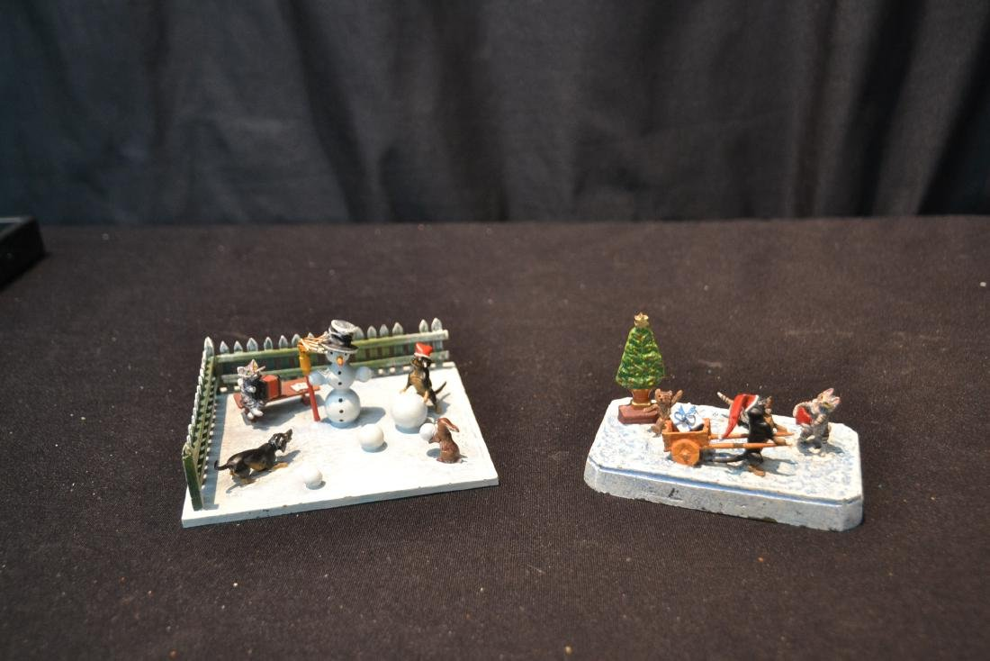 (2) COLD PAINTED BRONZE SNOW MEN GROUPINGS - 10