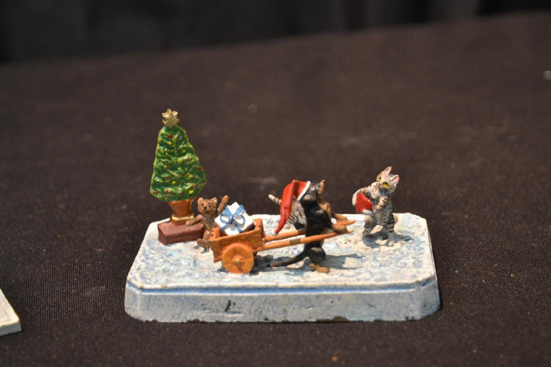 (2) COLD PAINTED BRONZE SNOW MEN GROUPINGS - 2