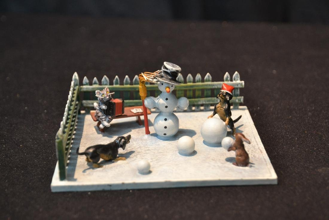 (2) COLD PAINTED BRONZE SNOW MEN GROUPINGS - 3