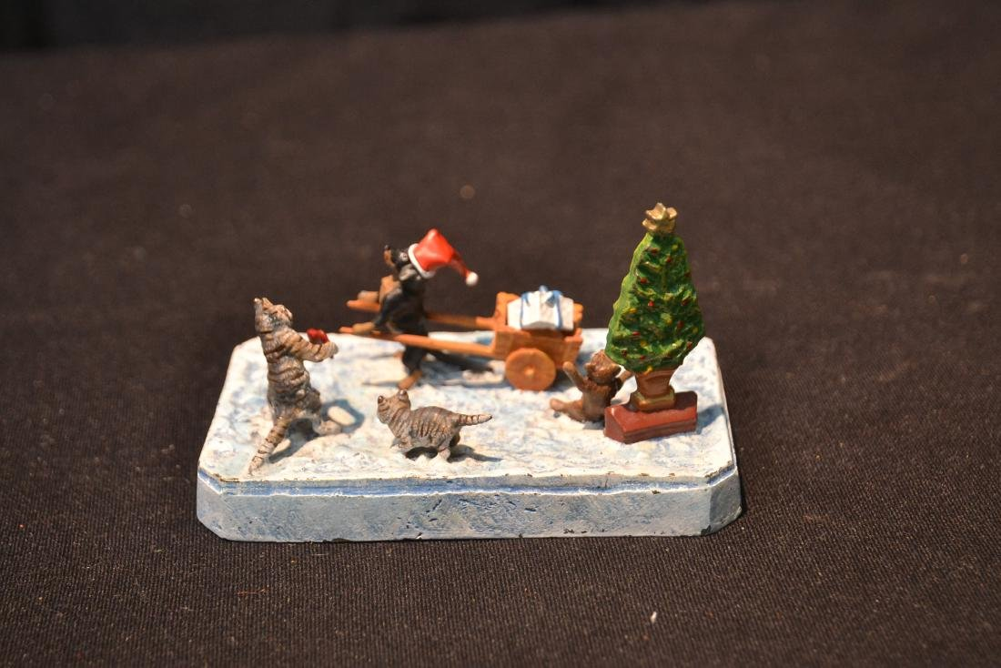 (2) COLD PAINTED BRONZE SNOW MEN GROUPINGS - 8