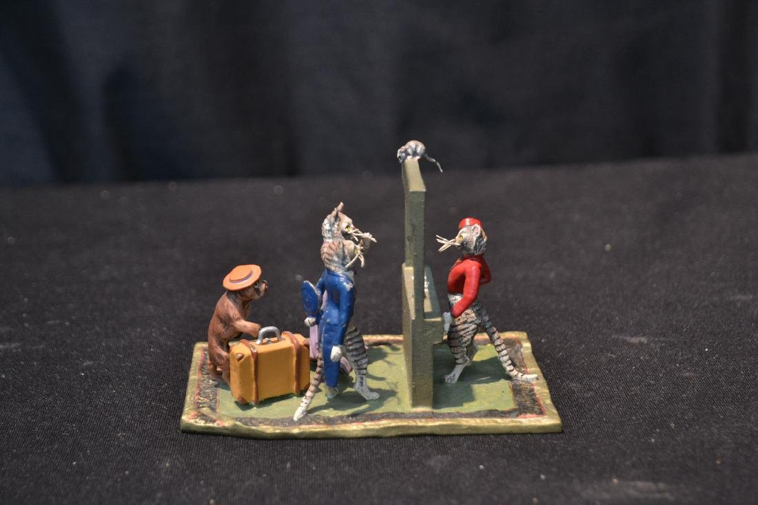 COLD PAINTED BRONZE MINIATURES INCLUDING - 5
