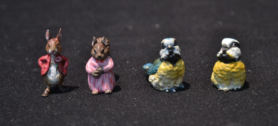(4) COLD PAINTED BRONZE MINIATURES INCLUDING