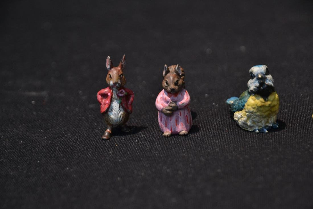 (4) COLD PAINTED BRONZE MINIATURES INCLUDING - 3