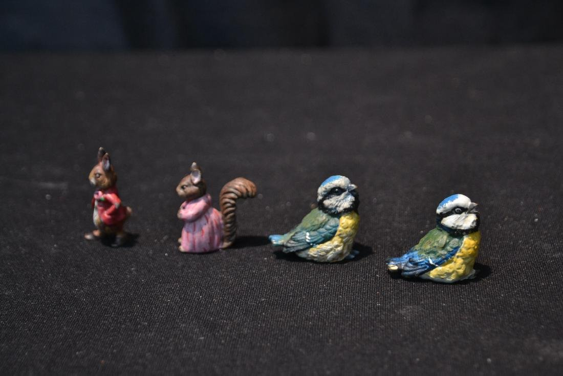 (4) COLD PAINTED BRONZE MINIATURES INCLUDING - 4