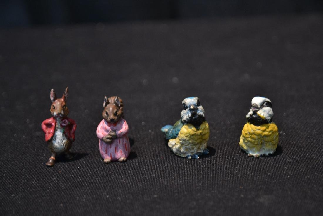 (4) COLD PAINTED BRONZE MINIATURES INCLUDING - 6