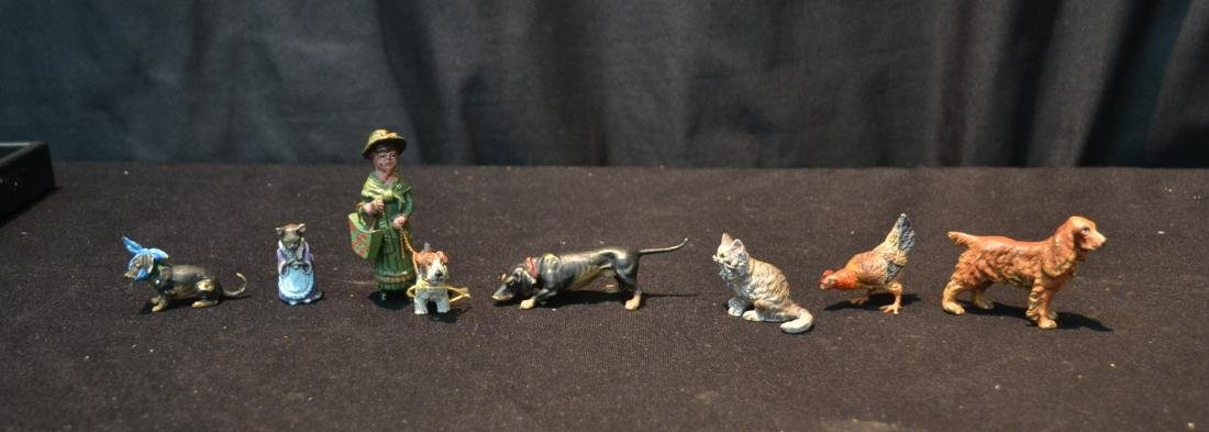 (7) ASSORTED COLD PAINTED BRONZE MINIATURES