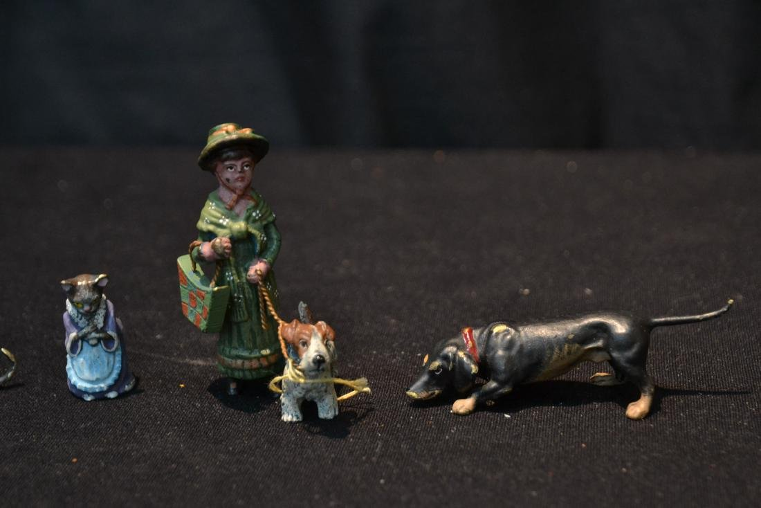 (7) ASSORTED COLD PAINTED BRONZE MINIATURES - 4