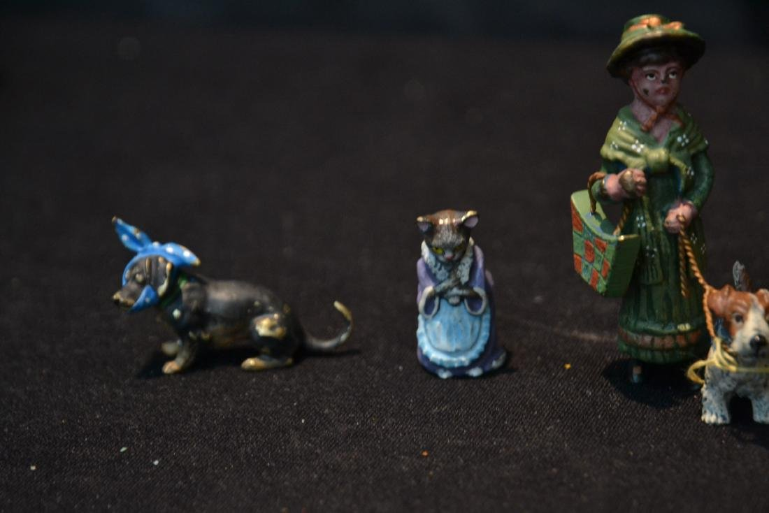 (7) ASSORTED COLD PAINTED BRONZE MINIATURES - 5
