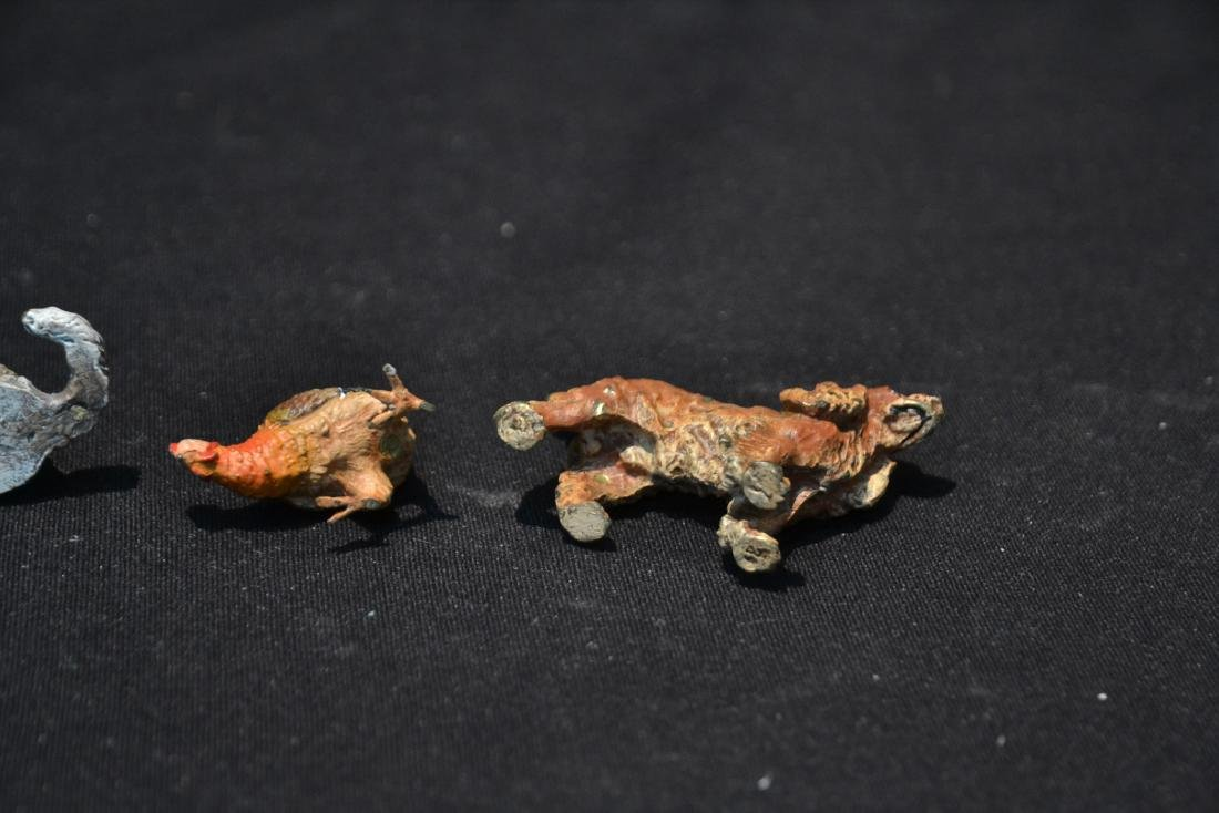 (7) ASSORTED COLD PAINTED BRONZE MINIATURES - 6